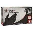 Ammex GPNB46100 Gloveplus Black Nitrile Powder Free Gloves Large 100 Count