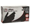 Behlen GPNB44100 Gloveplus Black Nitrile Powder Free Gloves Medium 100 Count
