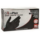 Behlen GPNB48100 Gloveplus Black Nitrile Powder Free Gloves Extra Large 100 Count