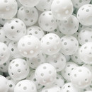 GOGO 240 Pack Perforated Plastic Golf Balls Bulk, White Airflow Hollow Practice Ball, 5 Inches Circumference