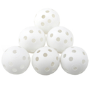GOGO 60 Pack Perforated Plastic Baseballs, 9 Inches White Hollow Balls