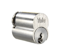 Yale Commercial 1210 Series Interchangeable Core Only, 6-Pin, Gb Keyway, 626 Satin Chrome, Interchangeable Core, 0-Bitted