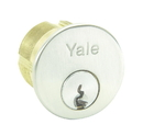 Yale Commercial 2153 Standard Mortise Cylinder, 6-Pin, Para-E1R Keyway, 625 Bright Chrome, 1-1/8