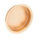 Ives 221 Flush Pull - Large Circle, Wrought Brass Substrate, 612 Satin Bronze