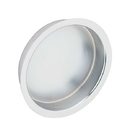 Ives 221 Flush Pull - Large Circle, Wrought Brass Substrate, 626 Satin Chrome