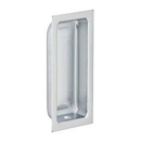 Ives 227 Flush Pull - Deep Well, Wrought Brass Substrate, 626 Satin Chrome