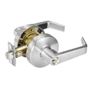 Yale Commercial 4600Ln Lever Lock, Entry Grade 2, 626 Satin Chrome, Entry, Au Levers