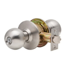 Dexter Commercial C2000 Ball Knob Classroom Lockset, C2000 Series Classroom Function Lockset With Ball Knob In Brushed Stainless Steel, Schlage C Keyway, Keyed Random