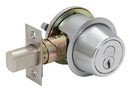 Falcon D100 Series Deadbolts, Single Cylinder By Turn, Adjustable Square Corner Backset With 2-3/4
