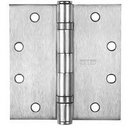 Stanley Five Knuckle Ball Bearing Hinges, Full Mortise Standard Weight Hinge - Non-Removable Pin - 4.5