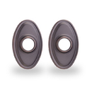 Yale Residential Oval Rosette For Knob, Oval Rosette For Knob In Oil Rubbed Bronze Permanent