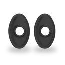 Yale Residential Oval Rosette For Knob, Oval Rosette For Knob In Suede Black