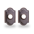 Yale Residential Traditional Rosette For Knob, Traditional Rosette For Knob In Oil Rubbed Bronze Permanent