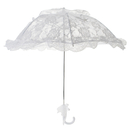 TOPTIE White Lace Adult Umbrella Long Handle Princess Umbrella, Wedding Shooting Stick Parasol