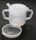 AliMed 857310- Two-handled Mug w/Lids - cs/10
