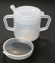 AliMed 8573- Two-handled Mug w/Lids