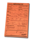 AliMed 8818- Swallowguide - Chart Size - 50 sheets per pad