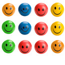 GOGO Happy Smiley Stress Relief Ball, Squeeze Balls Pack of 12