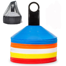 GOGO Pack of 50 Agility Disc Cones Sports Plastic Training Gear With Carrier and Bag - Perfect for Soccer Football Basketball