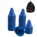 Wholesale GOGO 100Pcs 3.1 Inches PVC Bright-Colored Slalom Cones for Skating Running Marker Mini Track