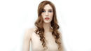 AMKO Displays 8096/C Brown Wig, Long Curly Hair
