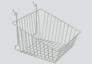 AMKO Displays BSK14/CH Sloped Front Basket, 12
