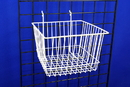 AMKO Displays BSK14/WTE Sloped Front Basket, 12