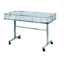 AMKO Displays DT48/WTE Folding Dump Table W/Casters, 48