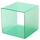 AMKO Displays FC4G-10 Frosted Green Cube