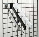 AMKO Displays GP/5H 5 Hook Waterfall For Gridwall, Square Tubing, Chrome