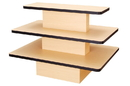 AMKO Displays L3T/M Rectangular 3 Tier Table With Black Edge, 60