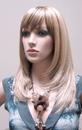 AMKO Displays R02 Female Wig, Straight Hair With Bangs