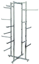 AMKO Displays R36 Folding Lingerie Tower, Square Tubing W/Arms, 60