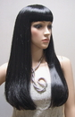 AMKO Displays S012B Black Wig, Straight Hair With Bangs