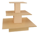 AMKO Displays SC-S3T(M) Square 3-Tier Table, 48