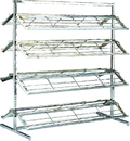 AMKO Displays SHOERACK Double Sided Shoe Rack, 8: 48
