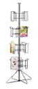 AMKO Displays SPLIT4 Literature Space Saver Spinner, 40