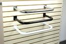AMKO Displays SPW/681 U-Shaped Hangrail, Round Tube, Chrome Strip, White