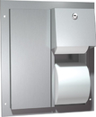 ASI 0032 Dual Access Partition Mounted Dual Roll Toilet Tissue Dispenser Stainless Steel