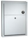 ASI 0472-1 Partition Mounted Dual Access Napkin Disposal