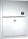 ASI 0473-1 Recessed Sanitary Napkin Disposal, Recessed with Lock