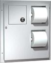 ASI 04833 Dual Access Toilet Tissue Dispenser With Napkin Disposal
