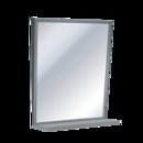 ASI  Fixed Tilt Mirror With Shelf, Variable Sizes