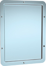 ASI 107 One Piece Framed Mirror With Rounded Corners - Front Mounting