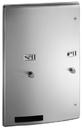 ASI 204684 Roval Recessed Dual Sanitary Napkin and Tampon Dispenser