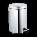 ASI 7317-S Waste Receptacle, Pedal Activated Cover – Satin Finish