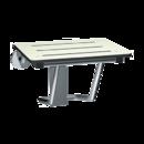ASI 8203-20 Folding Shower Seat, Rectangular Solid Phenolic - Compact 20