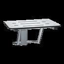 ASI 8203-28 Folding Shower Seat, Rectangular Solid Phenolic Seat - 28