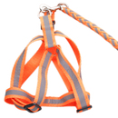 GOGO Polyester Reflective Dog Leash And Harness Set, No-pull Dog Harness