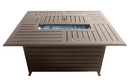 PrimeGlo FS-1010-T-12 Rectangle Aluminum Slatted Fire Pit With Stainless Steel Propane Burner